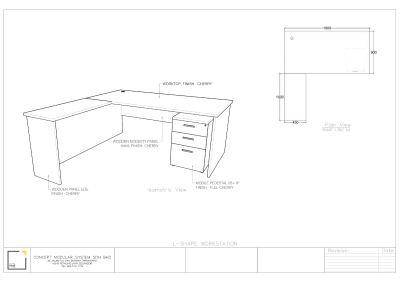 L-Shape Workstation (5 sets only)-Manufacturer Price (Clearance stock!!)