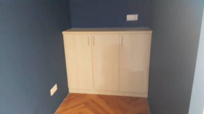 Office low swing door cabinet