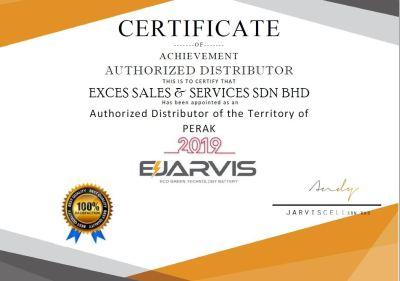 Certificate of Distributor in Perak from E-Jarvis