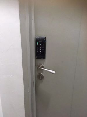 Hafele Digital Lock for Main Door and Grill Installation Done