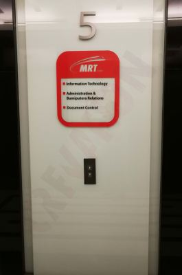 MRT Malaysia - Interior Signage