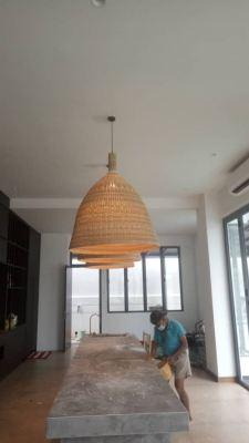 Install chandelier light at alam nusantara