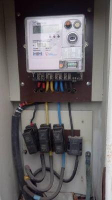 changing rotting cable at TNB meter at Bandar utama