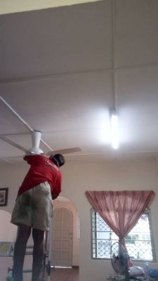 install ceiling fan and hook at OUG