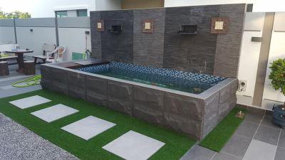 Stone Tiles Fish Pond