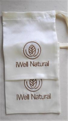 Bag Pouch Embroidery iWell Natural