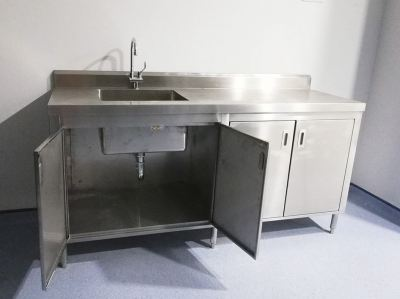 Stainless Steel Single Deep Bowl Sink with Cabinet