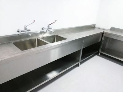 Stainless Steel Double Deep Bowl Sink