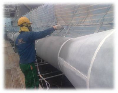 Tanjung Langsta Blasting & Painting Works for Chimney