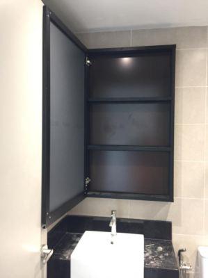 """aluminium 1"""" x  4"""" hollow p/c Black + mirror amd composite panel"""