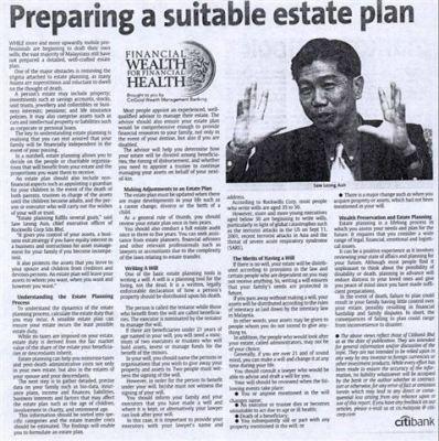 Preparing a suitable estate plan