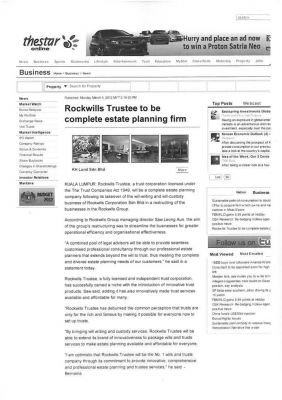 Rockwills Trustee to be complete estate planning firm