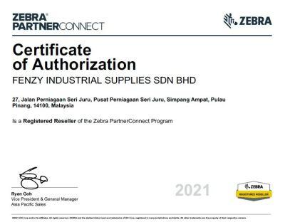 Zebra Certification of Authorization