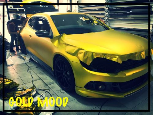 Gold Scirocco # Car Sticker # Car Wrapping # Oracal # Germany Sticker # We One