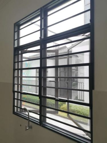 2in1 Grille with Stainless Steel Mosquito Mesh Window