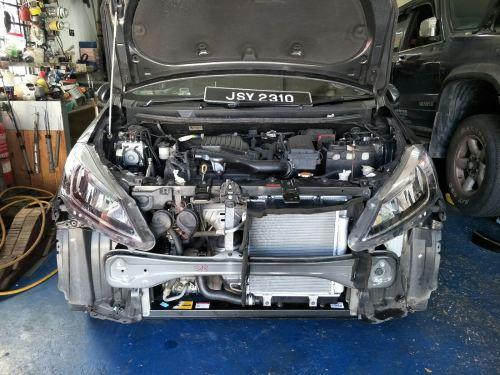 Perodua Myvi 1.5 Eco YR2018~Frt Bumper, AC Condensor, Radiator,Lower panel