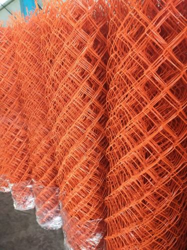 pvc chain link fence Malaysia pagar orange