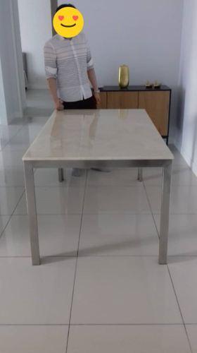 Beige Marble Dining Table | Louis Beige