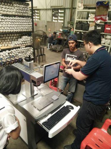 Installation & Training of New Fiber Laser Marking Machine