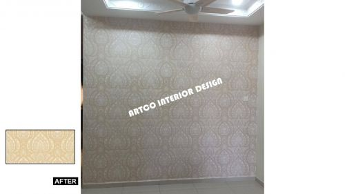 Wallpaper Before & After Installation