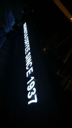 FRONT LIGHT LED SIGN