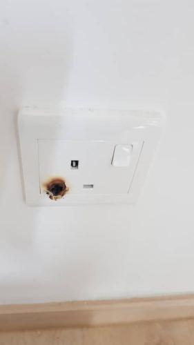 Replace damaged plug at villa crystal condo Taman Sri Sinar