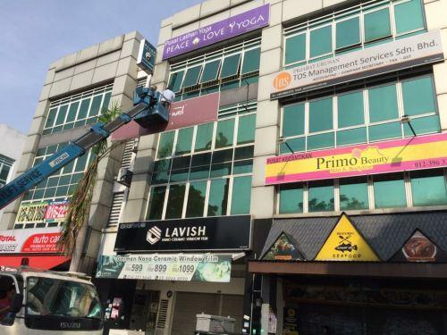 Dismantle Signboard at Bandar Puteri, Puchong @ 22/04/19