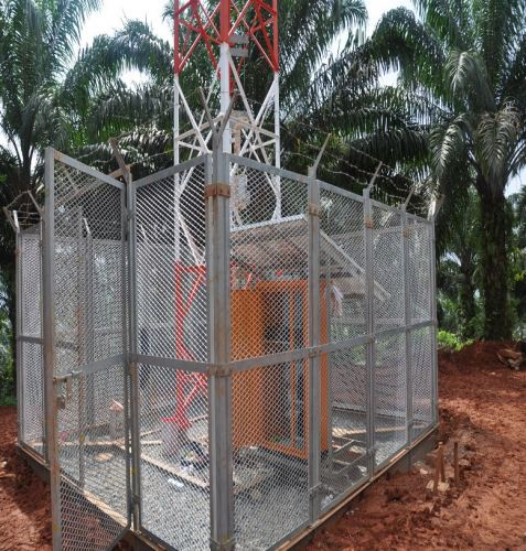 Walkie Talkie & Repeater Radio Communication System with Soar Panel & Tower at Felda Plantation