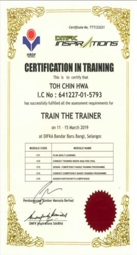 Company Certification & Competent Person