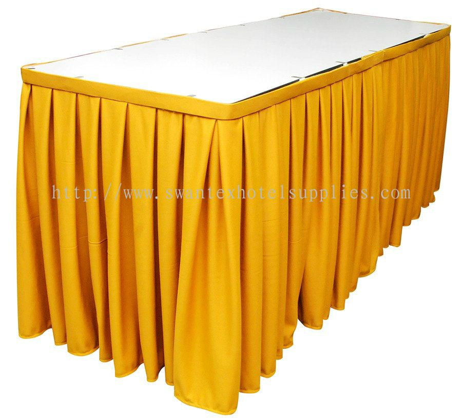 Johor table skirting from swantex hotel supplies for Table skirting