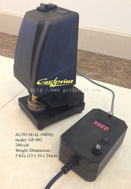 Goldprint Enterprise Pte Ltd:Mini Electric auto seal press