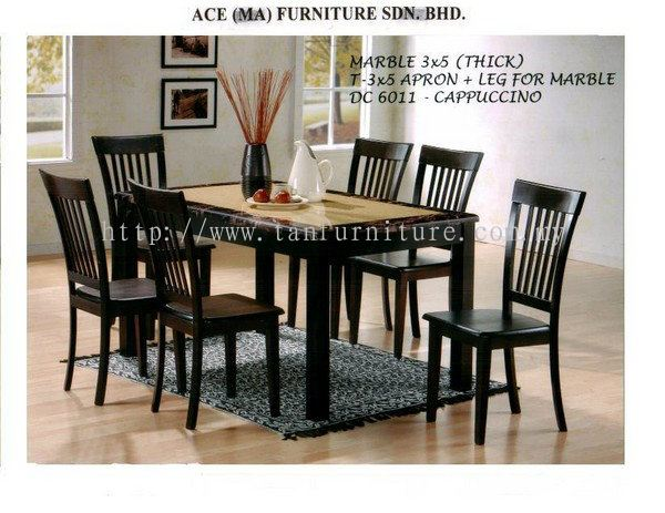 Johor dc marble top dining set from tan furniture