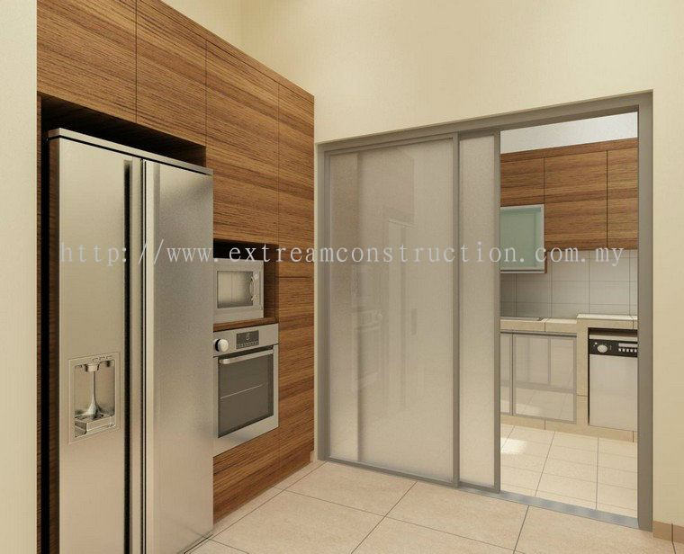 Extream Home Decor Sdn Bhd Corner Lot Horizon Hill Double Storey House Dry Kitchen Design