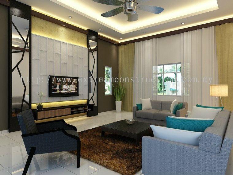 Johor Kempas Bungalow House Living Hall Design From