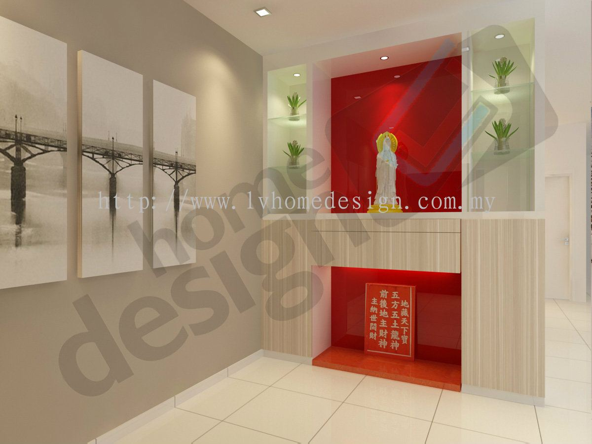 Johor altar design altar 3d design services from cai yi for Modern home decor malaysia