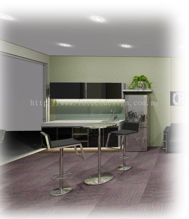 Johor office pantry and canteen daripada intech design for Office design johor