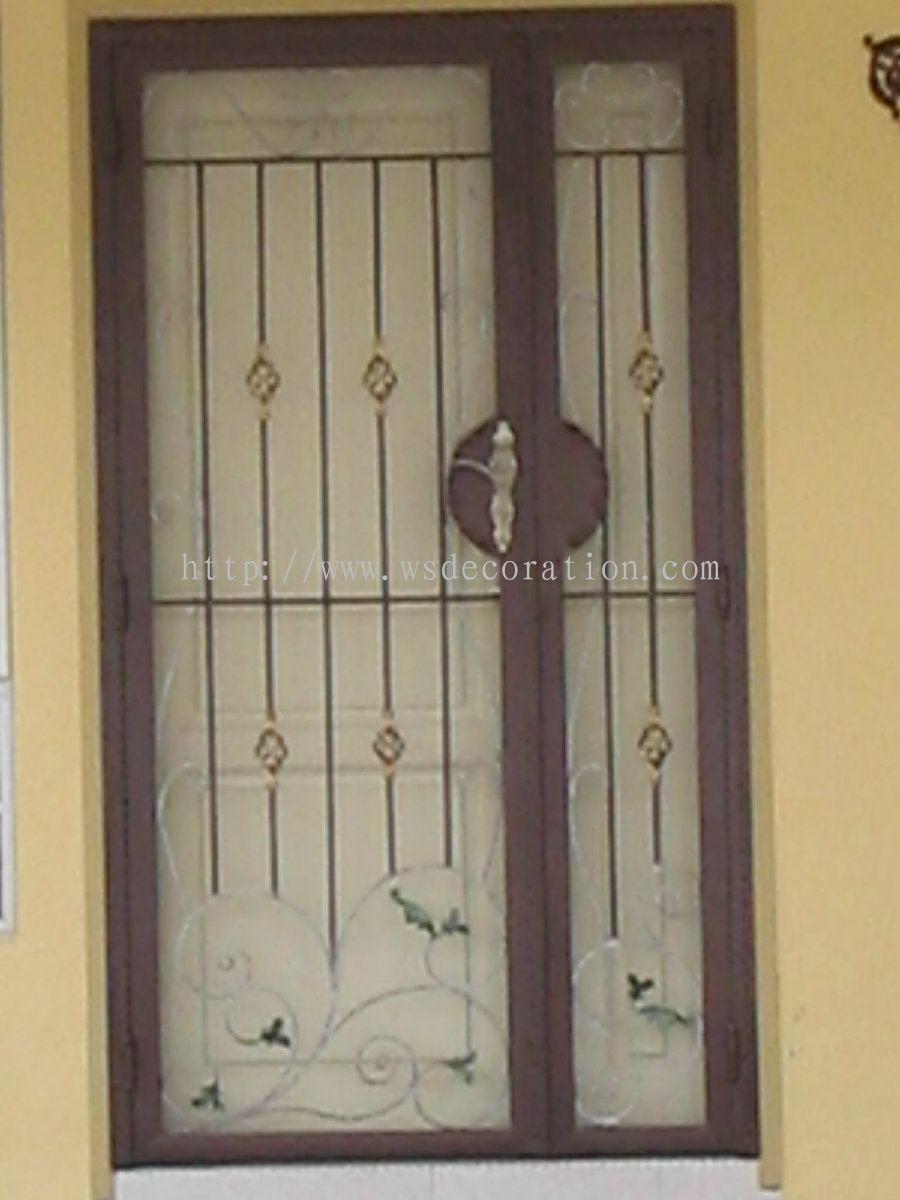 Johor door metal work from won song painting renovation for Door design johor