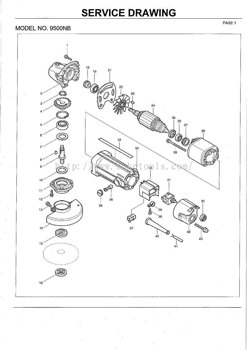 Boke Tools Machinery Pte Ltd:9500NB ANGLE GRINDER