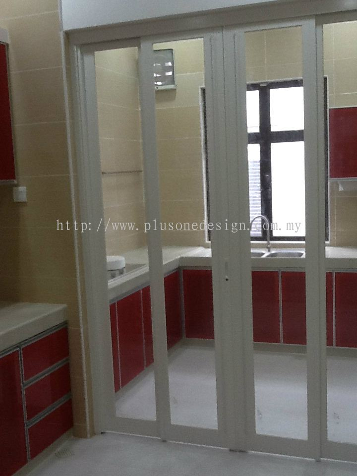 Johor sliding door door window from plus one design for Sliding glass doors kitchen