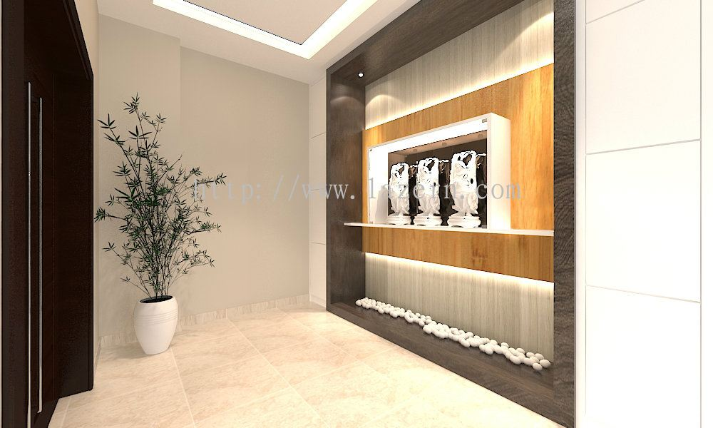Selangor foyer area modern contemporary interior design for Foyer area interior
