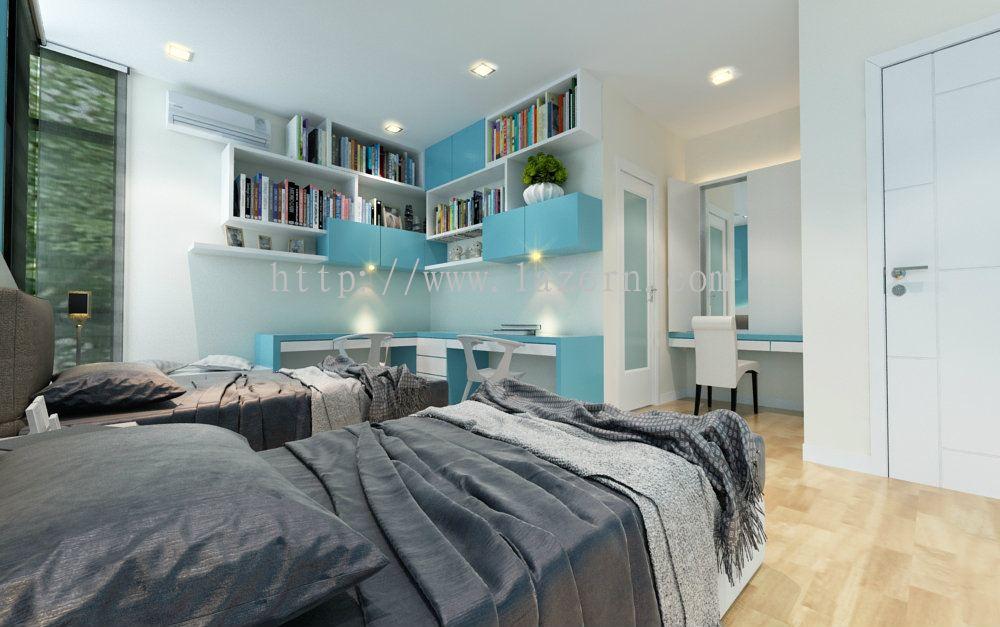 Selangor teenage room study area teenage room modern for Interior design di bungalow artigiano
