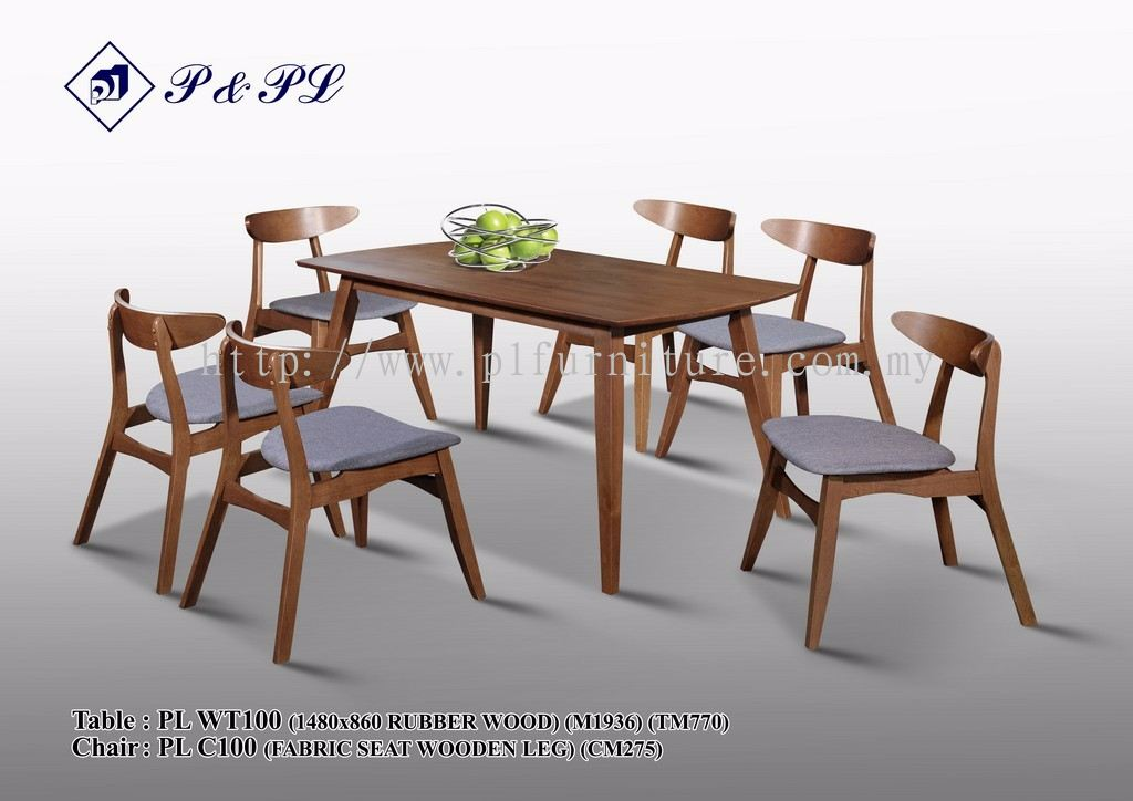 Johor wooden dining set from p pl furniture sdn bhd