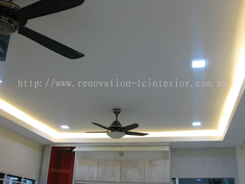 Ceiling Light Box Loose : Selangor double storey hall area light box plaster ceiling