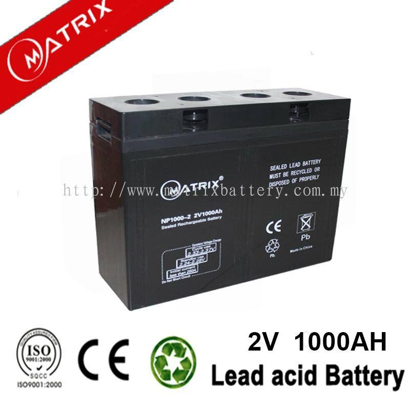 Johor 2v Battery Sealed Lead Acid Battery From Matrix