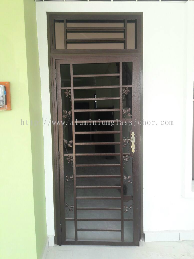 johor main entrance door grille from sd aluminium glass