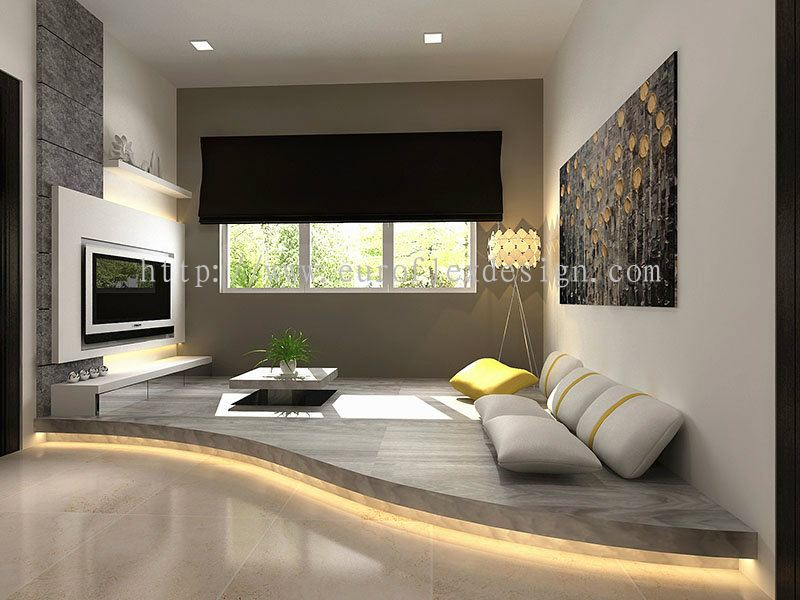 Johor family hall design interior design renovation for Hall design for medium family