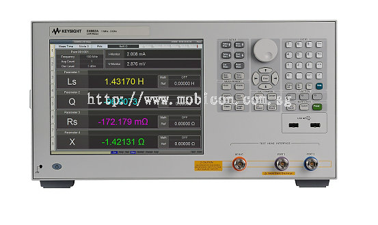 Mobicon-Remote Electronic Pte Ltd:LCR Meter, 1MHz to 300MHz/500MHz/1GHz/3GHz, E4982A