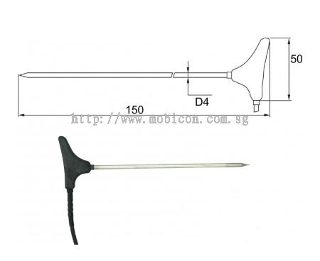 Mobicon-Remote Electronic Pte Ltd:Comet 2091-250/0, Stick-in probe, cable 2 m