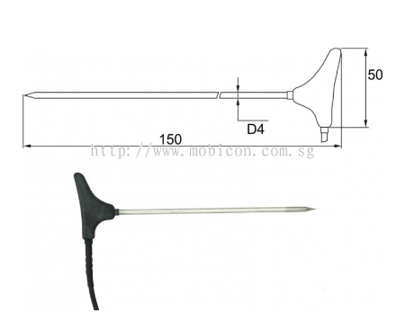 Mobicon-Remote Electronic Pte Ltd:2091-250/0, Stick-in probe, cable 10 m
