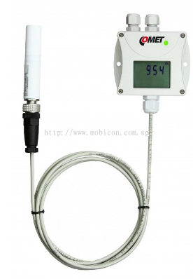 Mobicon-Remote Electronic Pte Ltd:Comet T5341 CO2 concentration transmitter with RS232 interface, external carbon dioxide probe, 1m cable